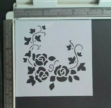 Roses and Ivy Stencil Scrapbooking Card Making Airbrush Painting Home Decor Art
