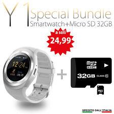 SMARTWATCH OROLOGIO ANDROID IOS Y1 BLUETOOTH CON SIM E SLOT MICRO SD Y1 + 32 GB