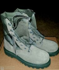 Boots, hot weather, Steel toe, Genuine leather Color sage, size 5 N