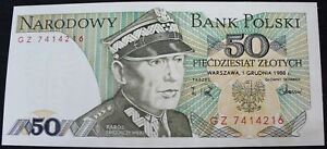1988 | Poland 50 Zloty GZ7414216 Bank Note | Bank Notes | KM Coins