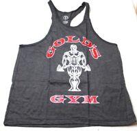 Men's Gold's Gym Tank Top Workout Shirt Muscle Joe Gray Red New