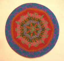 Women's New Hand Knit Fair Isle Wool Beret Tam Hat Purple Brown Red Blue