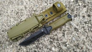 Gerber StrongArm Fixed Blade Knife, Coyote, Serrated Edge Tactical Survival EDC