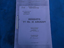 ww2 raf d h  mosquito manual vol 1= 310 pages verry interesting