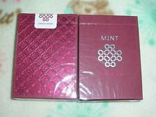1 DECK MINT Playing Cards - Raspberry S10270605(H)