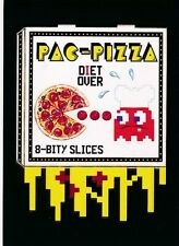 #8 PAC-PIZZA 2017 Wacky Packages 50th Anniversary APP PAC-MAN BLACK LUDLOW /99