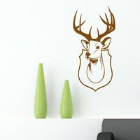 Stag head wall sticker deer decal trophy antlers art animal hunting dr2