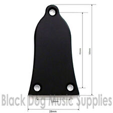 Truss rod cover Plate 2 ply black bell shape 3 holes including screws
