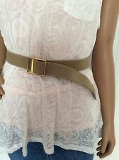 Knew US Tan Belt With Gold Buckle