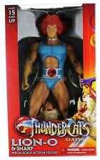 """Thundercats LION-O & SNARF 14"""" MEGA Scale Action Figure 35cm MEZCO Toyz RARE"""
