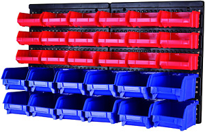 MaxWorks 80694 30-Bin Wall Mount Parts Rack/Storage for your Nuts, Bolts, Nails,