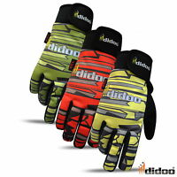 Mens Full Finger Cycling Gloves Winter Thermal Motorcycle MTB Bike Gel Padded