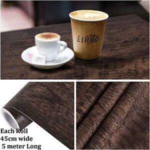 Maustic Wood Grain Contact Paper Brown Peel and Stick Self Adhesive Wood Texture