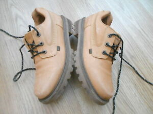 KICKERS BROWN LEATHER CASUAL SHOES   SIZE UK 7  EUR 41