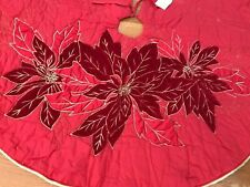 New Hallmark Heritage Collection Christmas Tree gold embroidery poinsettia