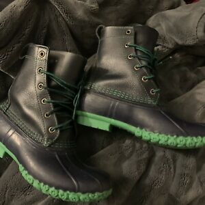 RARE L.L. Bean Duck Boots BLUE/GREEN WMNS Sz  6 fits 7.5-8 Perfect! SMALL BATCH