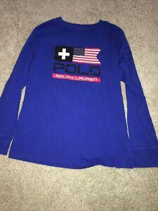 Boy's Ralph Lauren Blue long sleeve Shirt size M 10-12 NWOT