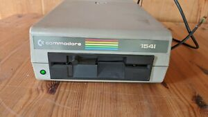 Vintage Commodore 1541 Floppy Disk Drive Rainbow Label Powers On