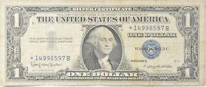 ERROR Replacement *Star* 1957-B $1 Silver Certificate Note - Tough *676