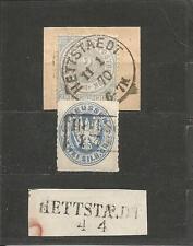 Pr Vor / HETTSTAEDT vorph. L2 auf Blanko-Briefstück, Ra2 auf Pr. 17a + Abl.-K1