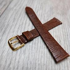1960/70's Vintage Speidel Dark Brown Genuine Lizard 18mm Watch Band – Germany