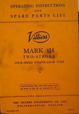 Original Operating Inst.& Spare Parts List for Mark 1H @ Stroke 4 Speed Engine G