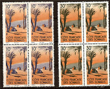 VALORE FRANCESE SOMALI 2 fogli de 4 Timbres. neufs N°YT 264/265 de 1947 40T2