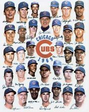 1969 CHICAGO CUBS BASEBALL HOF TEAM 8X10 PHOTO
