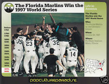 THE FLORIDA MARLINS WIN THE 1997 WORLD SERIES 1998 Grolier Story of America CARD