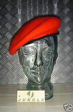 Red Wool Military Style Beret / Berret Size 7½ - NEW