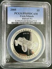 South Pacific Professional Sale Cook Islands 1999 Silver 5 Dollars Millennium 7 Sided 1 Troy Oz Km#367 Ngc Pf69
