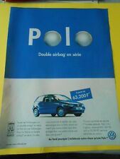 Publicté Advertising 1997  Polo WW double airbag en série
