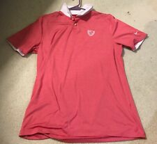 Nike Mens Size Sz S Coral Short Sleeve Golf Polo Shirt