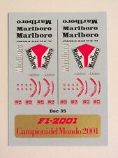 STICKERS BBR MODELS DECALS FERRARI DEC35 DECALCOMANIA BBR Ferrari  F1 - 2001