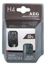 "AEG 97260 ""WHITE XENON"" Glühlampe Weiß H4, 60/55 W, 2er Pack"