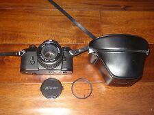 Nikon EM 35mm Camera 50mm 1:1.8 E Lens W/ CASE & HOYA FILTER