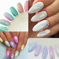 5g Mermaid Effect Glitter Nail Art Powder Dust Glimmer Trend 5 Colors