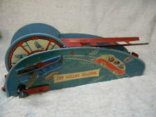 VINTAGE AMERICAN 1940S LITHO TIN WINDUP JET ROLLER COASTER TOY BY WOLVERINE
