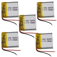 5pcs 3.7V 130mAh Li Polymer Rechargeabl Li ion battery 282525 For driving record