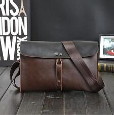 Men Male Briefcase Business Messenger leather Bag Shoulder Work Laptop Handbag