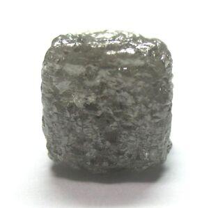 8.77 Karat Uncut Natürlich Roh Silber Grobem Kubischer Würfel Diamant