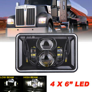 """4x6"""" inch 150W LED Headlight High Low Black Sealed Beam fit for Chevrolet Camaro"""