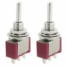 2 Pcs AC SPDT On/Off/On 3 Position Momentary Toggle Switch AC250V/2A/120V/5A DT