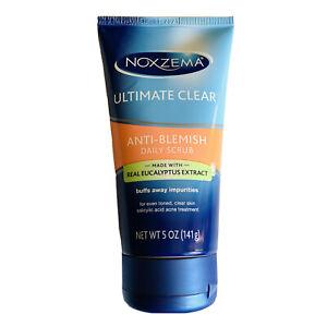 Noxzema Ultimate Clear Anti-Blemish Daily Scrub 5 oz NEW Eucalyptus Salicylic