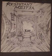 Resistant Militia-LIVING by law LP (MetalStorm, 1989) * RARE death/hardcore