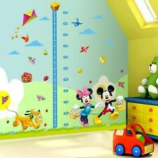 Mickey Mouse Minnie Height Chart Wall Sticker Art Decals Kids Nursery Room Decor