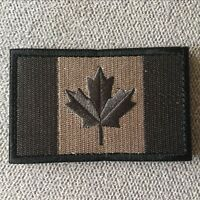 Embroidered Canada Canadian Flag Tactical Morale Hook Loop Patch Badge Dark Grey