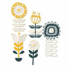 NEW Sizzix Stackable Florals Die Set - Sizzix Thinlits Dies