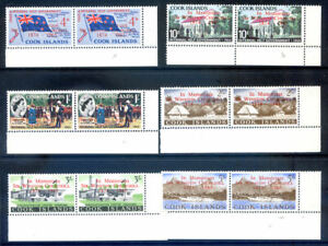 Cook Islands 1965 Churcill 'missing dot' variety in n.h. pairs (2020/10/27#01)