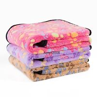 Cute Soft Warm Plush Fleece Throw Pet Dog Sleeping Blanket Slate Bed Mat Cushion